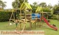 Venta de rodaderos en fibra para parques infantiles
