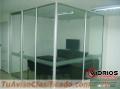 Divisiones en aluminio oficina